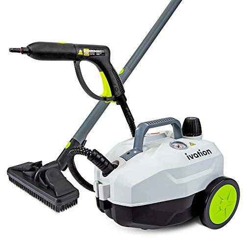 Ivation 1800W Canister Steam Cleaner with 14...