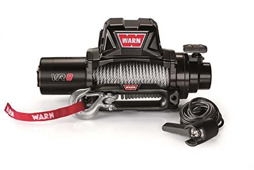 WARN 96800 VR8 12V Electric Winch with Steel Cable...