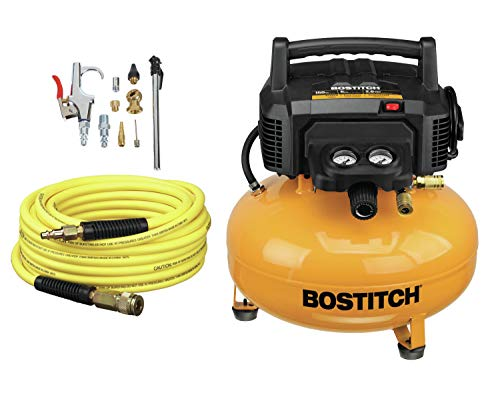 BOSTITCH Air Compressor Kit, Oil-Free, 6 Gallon,...