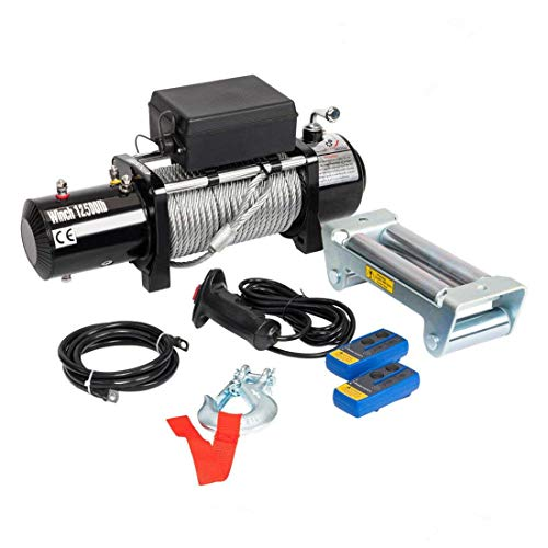 Roadstar Electric Winch Recovery 12V 12500lbs...