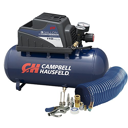 Air Compressor, Portable, 3 Gallon Horizontal,...