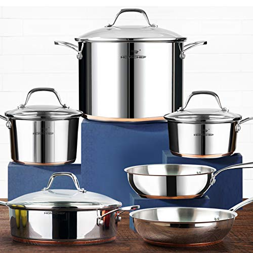 HOMI CHEF 10-Piece Nickel Free Stainless Steel...
