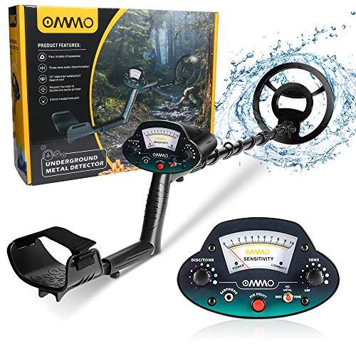 OMMO Metal Detector for Adults & Kids, Waterproof...