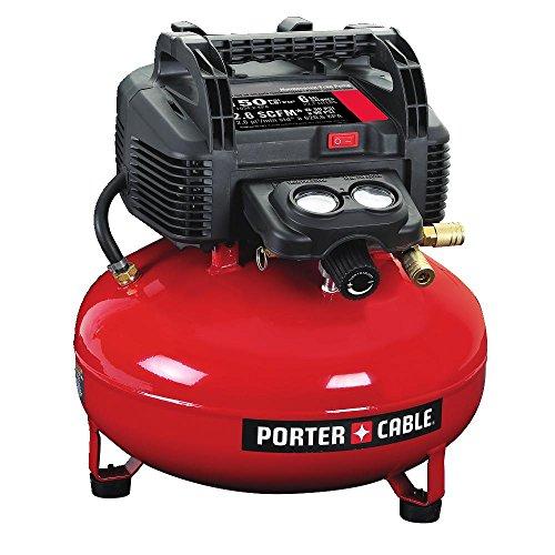 PORTER-CABLE Air Compressor, 6-Gallon, Pancake,...