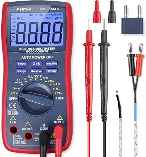 AstroAI Digital Multimeter, TRMS 6000 Counts Volt...