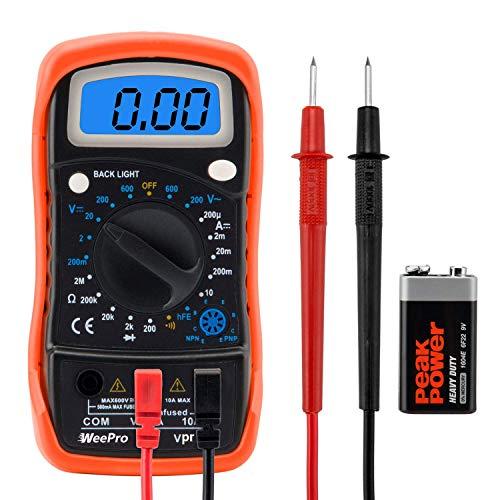 WeePro Vpro850L Digital Multimeter DC AC...
