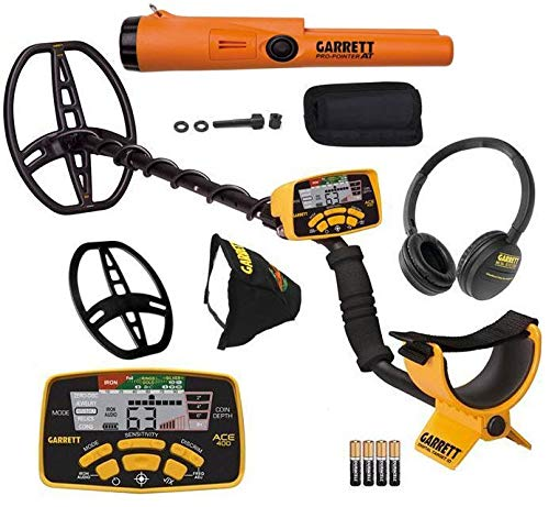 Garrett ACE 400 Metal Detector with DD Waterproof...