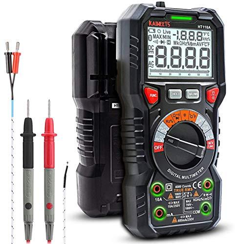 KAIWEETS Digital Multimeter TRMS 6000 Counts...