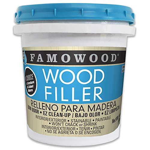 FamoWood 40022126 Latex Wood Filler - Pint,...