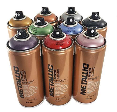 Montana Metallic Effect Acrylic Spray Paint Set of...