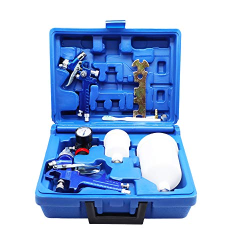 ROIKETU 2 Set HVLP Air Gravity Spray Gun Feed Car...