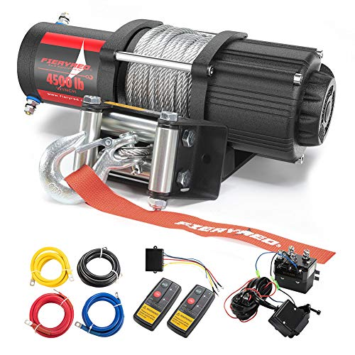 FIERYRED 12V 4500LBS Electric Steel Cable ATV...