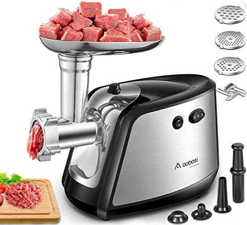 Meat Grinder Electric AAOBOSI 3-IN-1 Sausage...