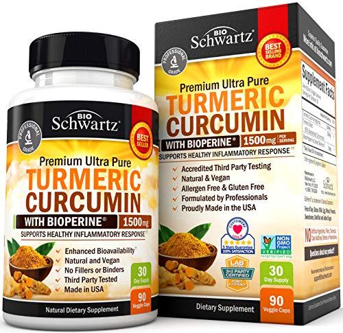 Turmeric Curcumin with BioPerine 1500mg - Natural...